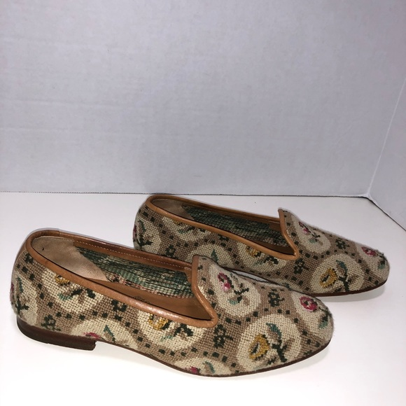 Stubbs & Wootton Floral Needlepoint Loafer